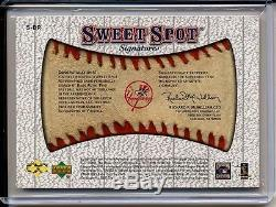 Babe Ruth 2001 Sweet Spot Signatures Classic Signed! Cut Autograph 1/1 Auto