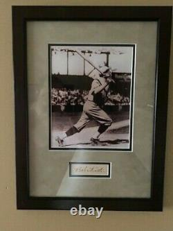 Babe Ruth Autographed Cut and Photo