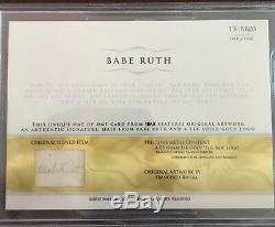 Babe Ruth Cut Auto Signed Authentic Hair The Bar true 1 of 1 READ DESCIPTION