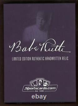 Babe Ruth Signed HOF Plaque Full Name Autograph Cut Signature BAS AUTO 1/1
