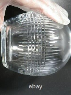 Baccarat Nancy Decanter Cut Crystal Glass Signed Used