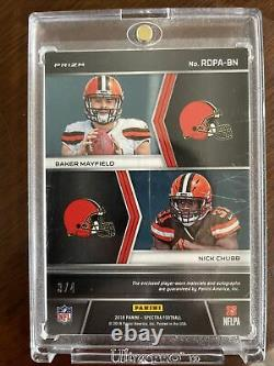 Baker Mayfield/chubb Rookie Patch Auto 3/4