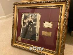 Bette Davis Framed Autographed Portrait and Cut. Walt Disney Authentication
