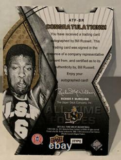 Bill Russell 2012-2013 UD All-Time Greats SPx Forces Die-Cut Autograph Auto /35