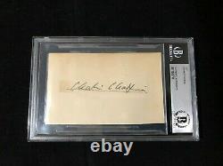 Charlie Chaplin Autograph Signed Cut BAS BECKETT Authentic