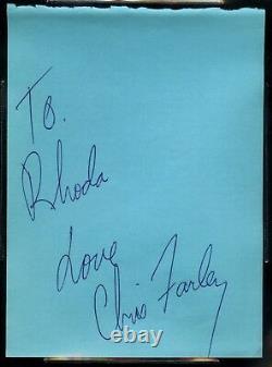 Chris Farley Signed Autograph Cut Inscribed''Love'' BAS BECKETT LOA