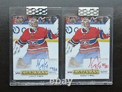 Clear Cut Carey Price Canvas SP /25 Jersey Auto Signatures /31 Montreal No Patch