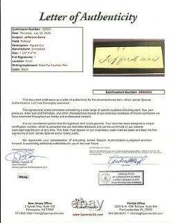 Confederate President Jefferson Davis signed Cut Display JSA LOA Bold Auto Z440