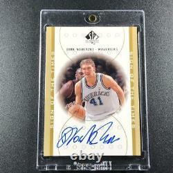 Dirk Nowitzki 1999 Sp Authentic #dn Sign Of The Times Autograph Auto Mavericks