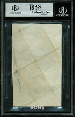 Dodgers Jackie Robinson Authentic Signed 3x5 Cut Signature BAS Slabbed