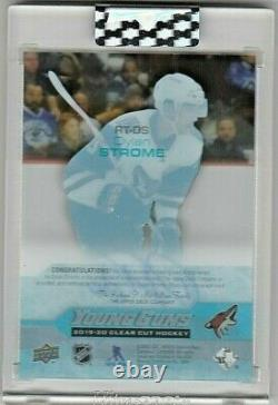 Dylan Strome Ssp Tribute Auto Young Guns Acetate Rc 2019-20 Upper Deck Clear Cut
