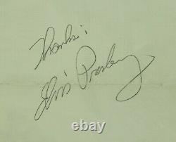 Elvis Presley Autograph Signed JSA Cut 1956 or 1957 Large Signature