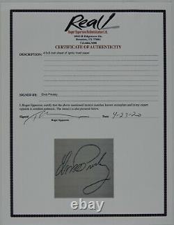 Elvis Presley Autograph Signed JSA Cut Roger Epperson COA REAL
