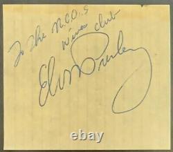 Elvis Presley Autographed Cut Vintage Rock Signed Slabbed Authenticated PSA/DNA