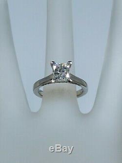 FANA Signed $16,000 2.50ct Princess Cut Diamond Platinum Wedding Ring