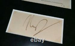 Framed NAPOLEON BONAPARTE Autograph Cut Signed Auto Signature Guaranteed