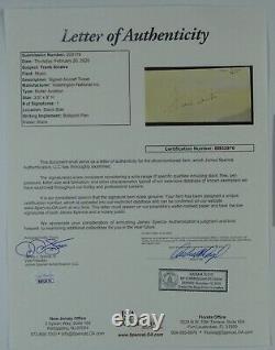 Frank Sinatra Autograph Signed JSA Cut Card