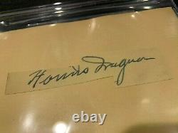 Honus Wagner Pittsburgh Pirates Signed Auto Cut On Index Card Beckett #3