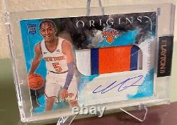 Immanuel Quickley 2020-21 Origins Rookie Patch Auto #09/25 New York Knicks Rc