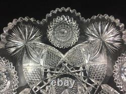 J. Hoare & Co ABP Cut Glass No. 5134-284 Pattern 8 Bowl SIGNED 1 of 2