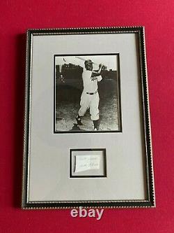 Jackie Robinson, Autographed(JSA Full Letter) Framed Cut (Vintage) Dodgers