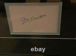 Jim Morrison Signed Cut Autograph The Doors Certified. COA Included RARE