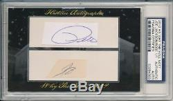 Joe Jackson & Pete Rose Historic Cut Autograph Signed Cuts Auto 1/1! Psa Dna