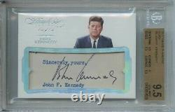 John F. Kennedy 2017 Panini Flawless Cuts #6 Signed Autograph BGS 9.5 Auto 10