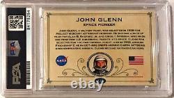 John Glenn Astronaut NASA Signed Auto Custom Cut #'d 1/1 Trading Card PSA/DNA