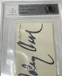 Johnny Cash Signed Cut BIG BOLD SIGNATURE Beckett Graded 10 Autograph