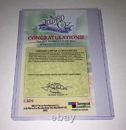 Judy Garland Autograph Auto Cut Signature Card CSD1 Wizard of Oz, Series 1