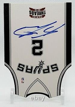 KAWHI LEONARD 2012 Threads Autograph Auto RC Rookie Jersey Die Cut #10 Clippers