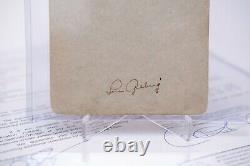 Lou Gehrig Autographed Signed Cut YANKEES (JSA) James Spence (Z54185) FULL LOA