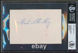 Martin Luther King Authentic Signed 4x6 Cut Signature Auto Graded 9! BAS Slabbed