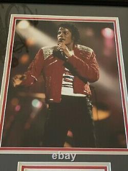 Michael Jackson Autographed Cut Framed JSA LOA 13x19