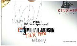 Michael Jackson signed Oversized Cut JSA LOA Rare Bold Auto d. 09 Z675