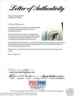 Michael Jordan Scottie Pippen 2014 Leaf Masterpiece Cut Signature signed 1/1 PSA