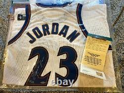 Michael Jordan UDA Bulls UNC Wizards Signed Autograph Pro Cut Jersey set LE 123