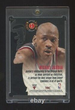Micheal Jordan 1996 Stadium Club Fusion Die Cut Beautiful Card & Condition Hof