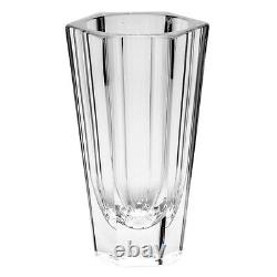 Moser Purity Hand Cut Crystal Vase Signed 8 3/4 H $750 Retail New Org Label