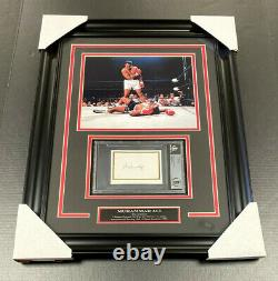 Muhammad Ali A2 AUTHENTIC Autographed Signed CUT Framed 8x10 Photo BGS BECKETT