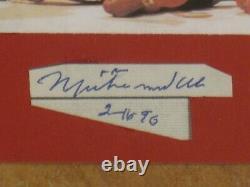 Muhammad Ali Signed Autographed Cut & 3x3 Photo Encapsulated Psa/dna