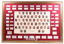 NBA 50 Greatest Players 1946-1996 45x65 Custom Framed Cut Display Signed Jordan