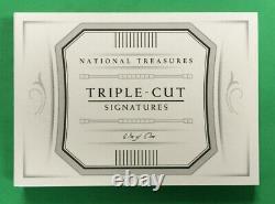 National Treasures Walter Johnson Cy Young Grover Alexander Cut Auto Book 1/1