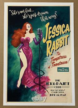 PRICE CUT Jessica Rabbit at the Ink & Paint Club SOLD OUT Print, G1988