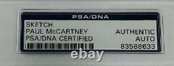 PSA/DNA The Beatles PAUL MCCARTNEY Signed Autographed SKETCH Cut Signature Auto