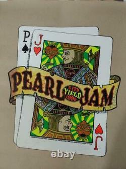 Pearl Jam Virgin Megastore Yield Promo Die-Cut Poster Signed 1998RARE