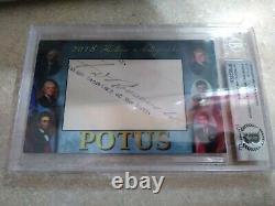 President Franklin D. Roosevelt FDR Signed Cut Autograph POTUS Beckett Historic