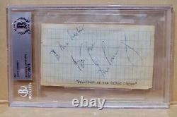 President John F. Kennedy Signed Cut Autograph Beckett Authentic Autograph