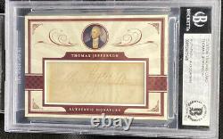 President Thomas Jefferson Signed Cut Auto Autograph 1/1 BAS Graded BGS PSA